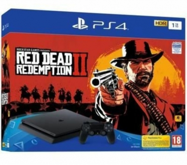 Photos Vivastreet Console PS4 Slim 1To NoireJet Black + Red Dead Redemption 2