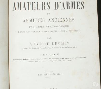 Photos Vivastreet AUGUSTE DEMMIN GUIDE des AMATEURS D'ARMES et ARMURES ANCIENN