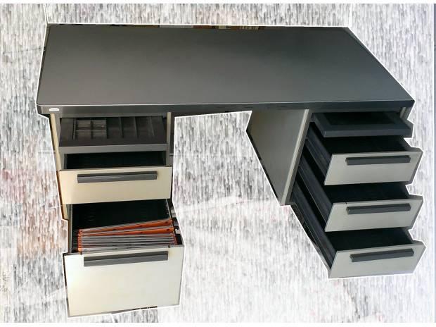 bureau ministre strafor m tal type indus ann es 60 montpellier 34000 meubles pas cher d. Black Bedroom Furniture Sets. Home Design Ideas