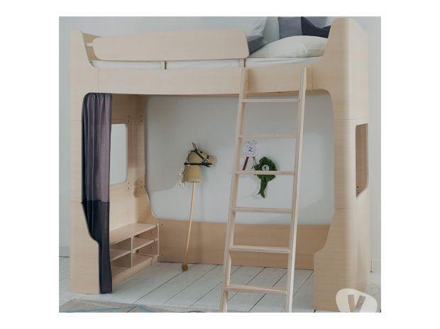 Ameublement & art de la table Nord Tourcoing - 59200 - Photos Vivastreet Lit mezzanine 90x200 Jannis coloris frêne blanchi