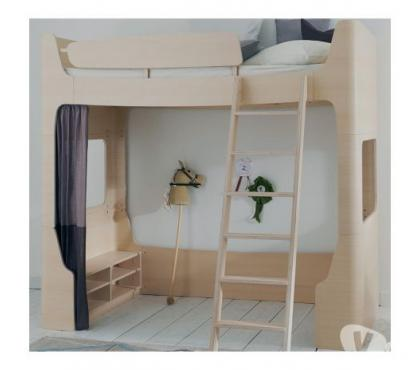 Photos Vivastreet Lit mezzanine 90x200 Jannis coloris frêne blanchi