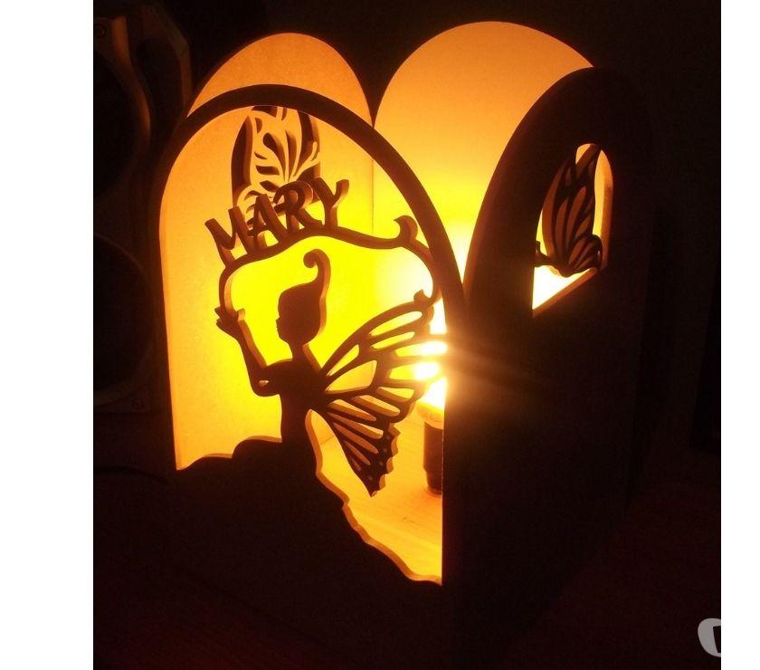 Photos Vivastreet Lampe décorative en bois fée et papillon