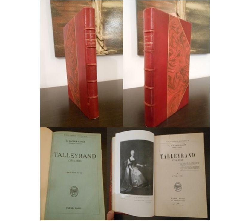 Collection Paris Paris 1er ardt - 75001 - Photos Vivastreet TALLEYRAND (1754-1838), G. LACOUR-GAYET, PAYOT PARIS 1928