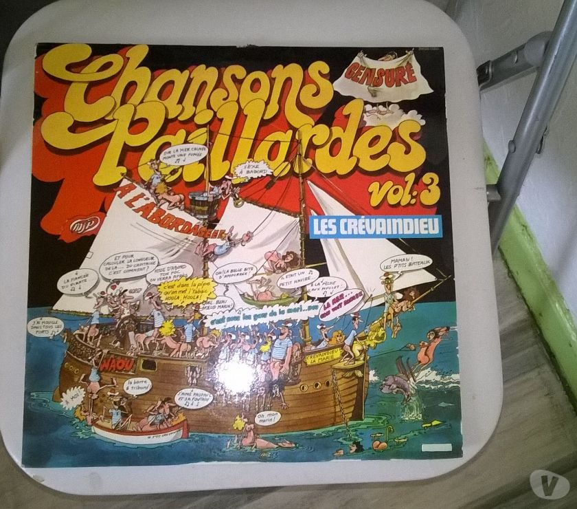 Collection Moselle Talange - 57525 - Photos Vivastreet Vinyle Crevaindieu Chansons Paillardes Vol 3 1977