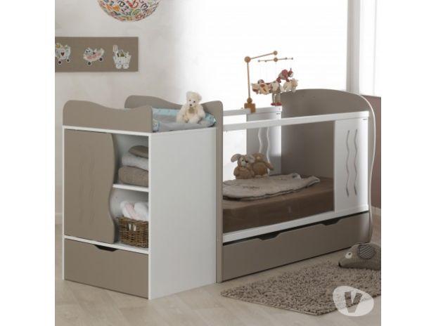 Equipements bébés Nord Tourcoing - 59200 - Photos Vivastreet Lit évolutif avec tiroir blanc/lin 70x140