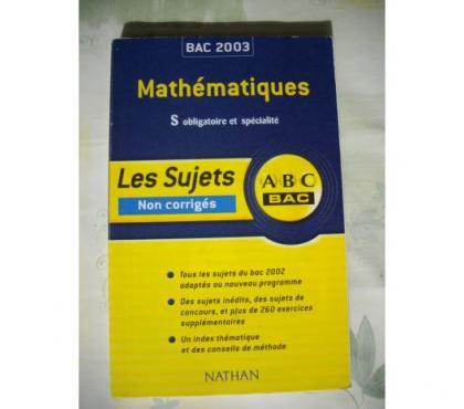 Photos Vivastreet Annales BAC maths S obligatoire et spé