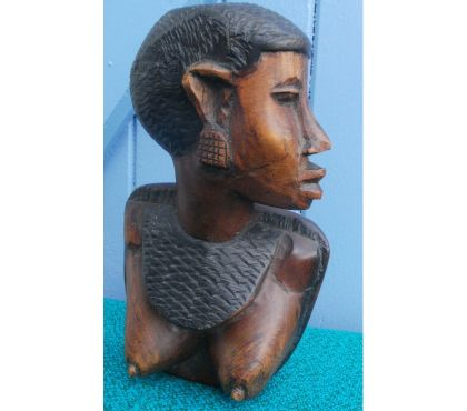 Photos Vivastreet Sculpture en bois, statue, buste de femme, art africain