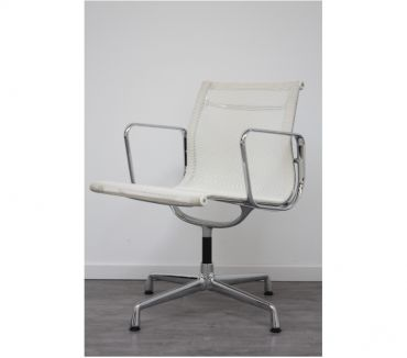 Photos Vivastreet Chaise Vitra Aluminium Chair Résille Blanc