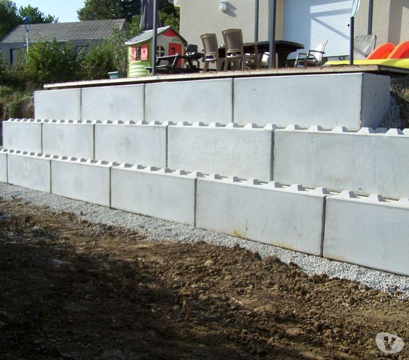mur sout nement beton gabion blocs modulable. Black Bedroom Furniture Sets. Home Design Ideas