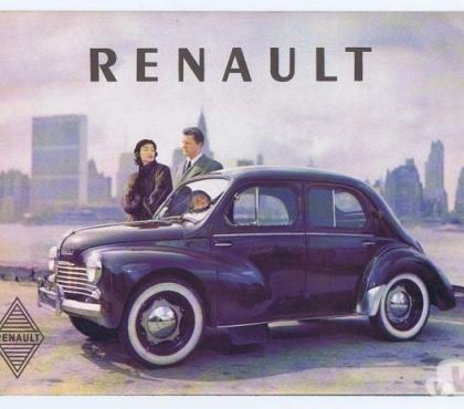 Photos Vivastreet RENAULT 4 CV catalogue ancien export en anglais