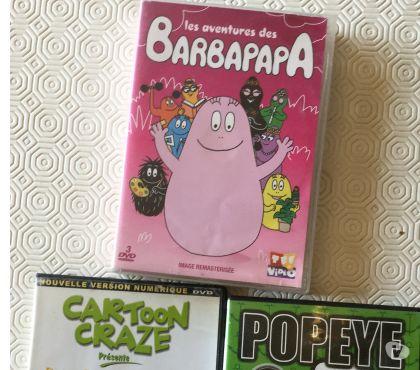 Photos Vivastreet DVD BARBAPAPA 2€ Popeye 1 € Betty Boop 1 € ou 3 € les 4