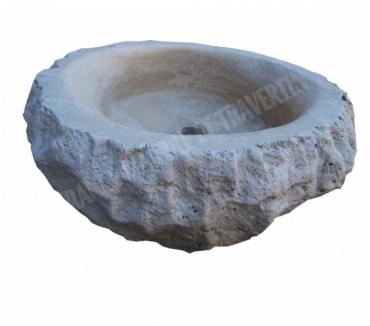 Photos Vivastreet Travertin Clss Beige Vasque Ovale Roche 40x50 cm REF 1583