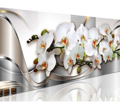 Photos Vivastreet tableau panoramique orchidée coeur jaune135x45 cm