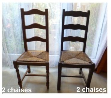 Photos Vivastreet chaises en bois, assises paillées