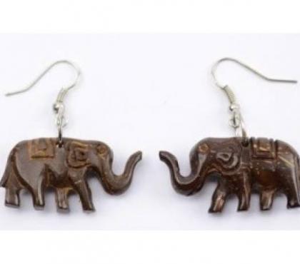 Photos Vivastreet Boucles d'oreilles en bois éléphant