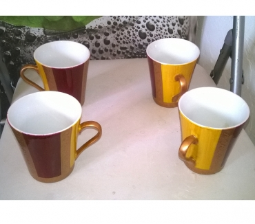Photos Vivastreet 4 mugs Faience Maison du monde Excellent etat 9 cm de h