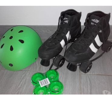 Photos Vivastreet Paire de Roller T43 - ROOKIE V2 RETRO + Casque