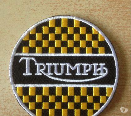 Photos Vivastreet Écusson brodé triumph motorcycles diam. 8 cm café racer