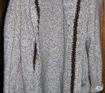 Photos Vivastreet Veste pure laine à grosse mailles avec ceinture et grand col