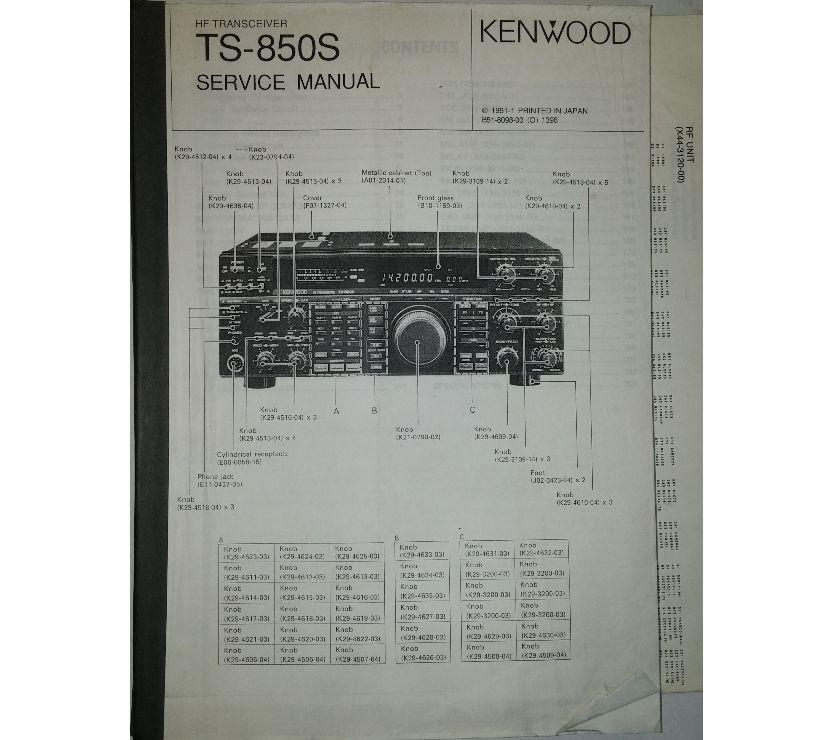 Photos Vivastreet Manuel réparation, ORIGINAL service manual KENWOOD TS 850S