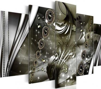 Photos Vivastreet tableau 5en1 abstrait perles diamants 100x50 cm