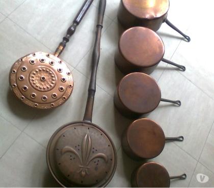 Photos Vivastreet BASSINOIRES et 5 CASSEROLES en cuivre - zoe