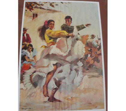 Photos Vivastreet Reproduction papier Danseurs de Flamenco 47 x 68 c