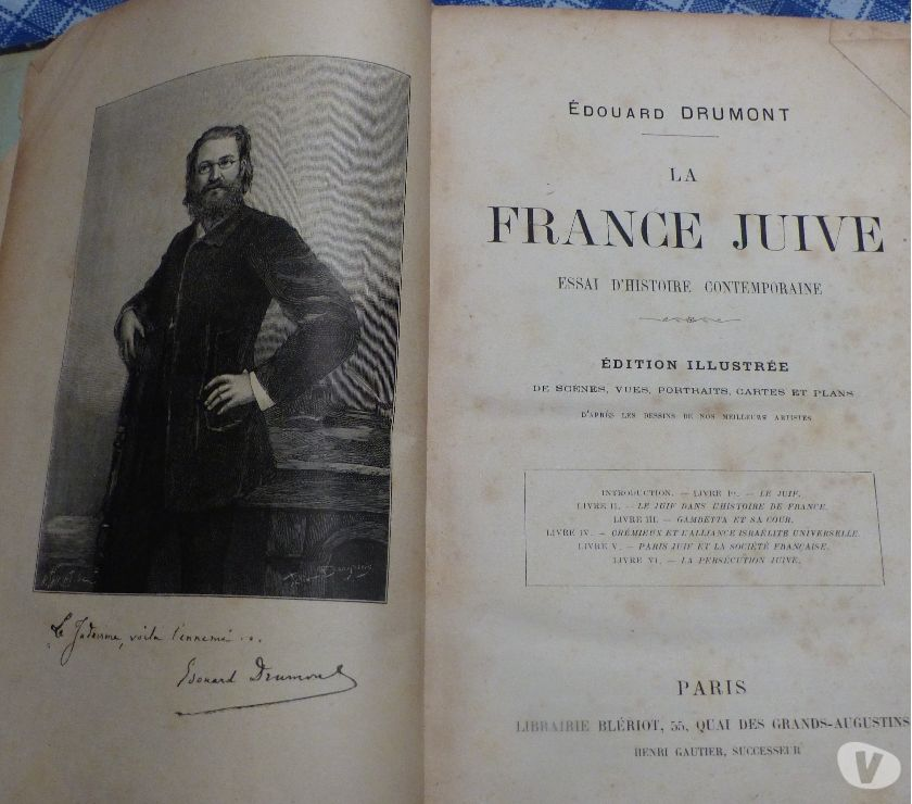 Photos Vivastreet LA FRANCE JUIVE 1886