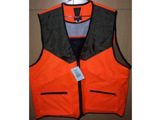 gilet chasse anti-ronce orange fluo taille xl neuf - villeneuve