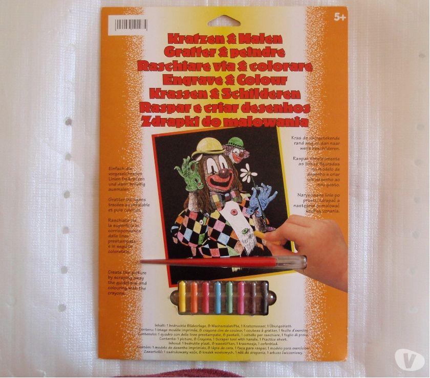 Photos Vivastreet Kit gravurecarte à gratter en couleur Clown -NEUF