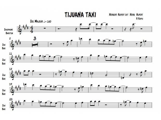 Partition guitare taxi 4 - Le vent nous portera guitare ...