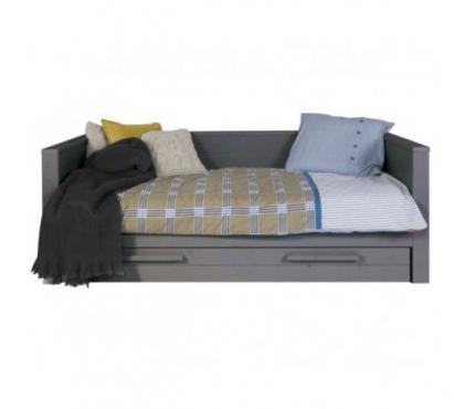 Photos Vivastreet Lit sofa bois massif 90x200 Gris acier