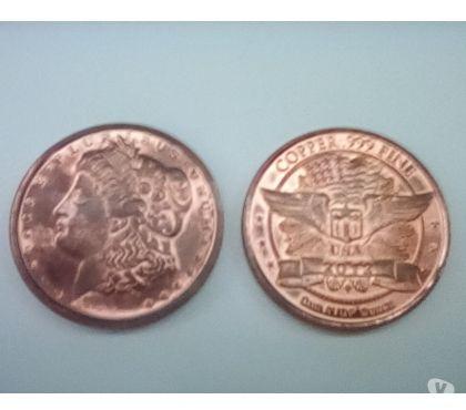 Photos Vivastreet Offre Pièce de collection 1 oz de Cuivre USA (31,1 grammes)