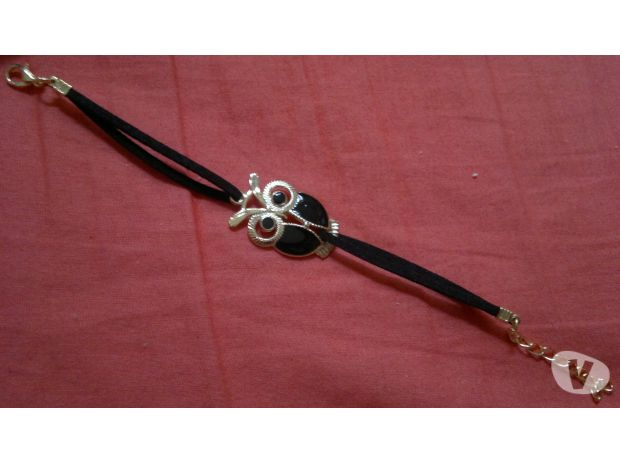 Photos Vivastreet Bracelet similicuir hibou noir