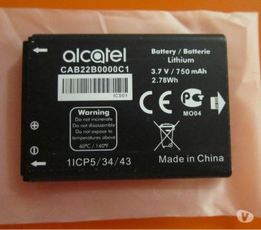 Photos Vivastreet Batterie Alcatel CAB22B0000C1