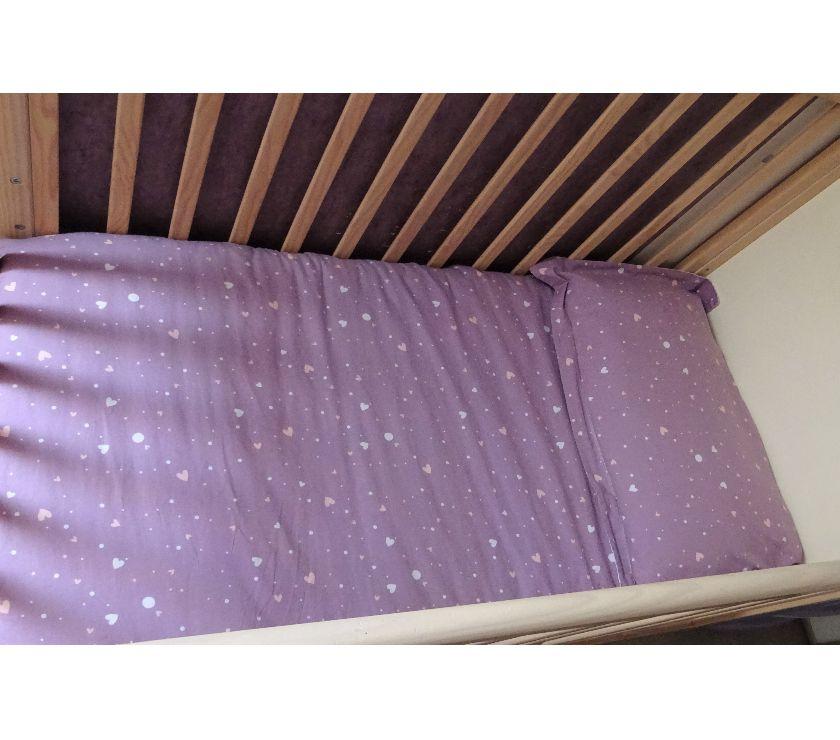 Photos Vivastreet Housse 80x120 2 taies 1couette violet VERT BAUDET