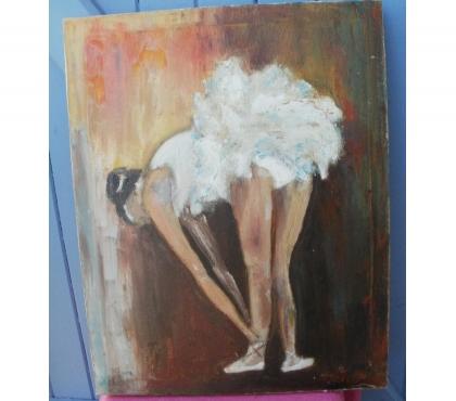 Photos Vivastreet Huile sur toile signée, peinture d'une danseuse 38 cm x 48 c