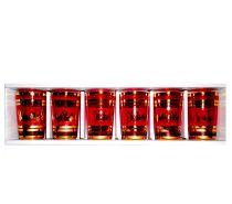 Photos Vivastreet Service de 6 verres Rouge Or