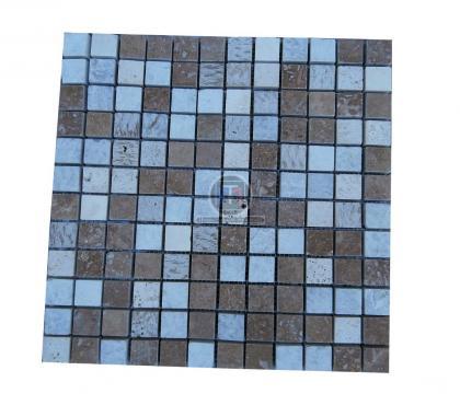 Photos Vivastreet Travertin mixte Mosaïque 2,3 x 2,3 cm Brut scie 7€ HT/pièce