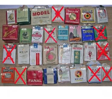 Photos Vivastreet Paquets vides de cigarettes des années 1950's (2)