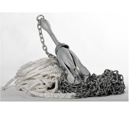 Photos Vivastreet Kit de mouillage avec bout, chaine, manille et ancre