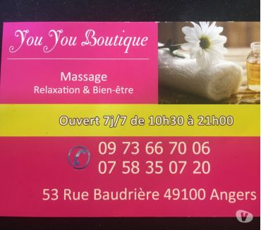 Photos Vivastreet Angers centre-ville YouYou boutique massagge