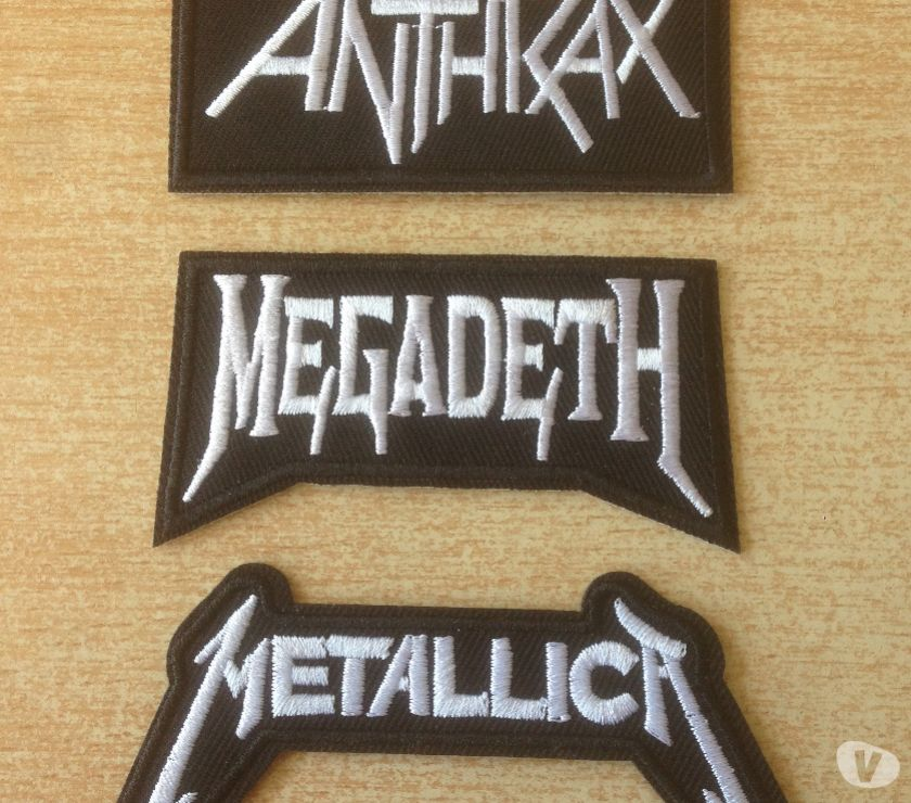 Photos Vivastreet lot 3 écusson brodé anthrax megadeth metallica