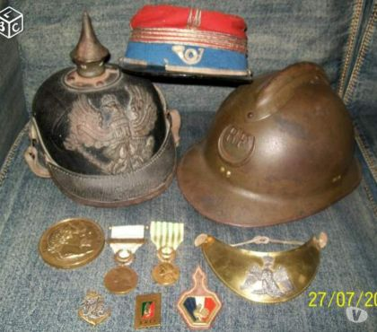 Photos Vivastreet recherche collection medailles, casques,insignes militaires