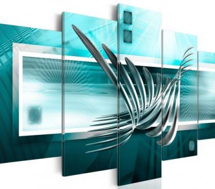 Photos Vivastreet tableau 5en1 couleur abstrait art métal 100x50 cm