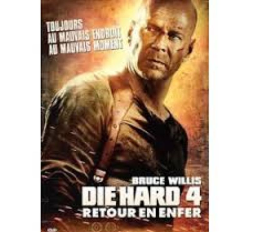 affiche cin ma 120x160 die hard 4 bruce willis la tour du pin 38110 objets de collection. Black Bedroom Furniture Sets. Home Design Ideas