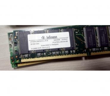 Photos Vivastreet SDRAM 512MB 333 CL2.5 PC2700U-25330-B0 HYS64D64320GU-6-B