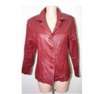 Photos Vivastreet VESTE FEMME CUIR 100 % ROUGE BORDEAUX GEORGE MARTHA T 40