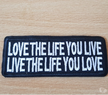 Photos Vivastreet ecusson patch love the life you live live the life you love