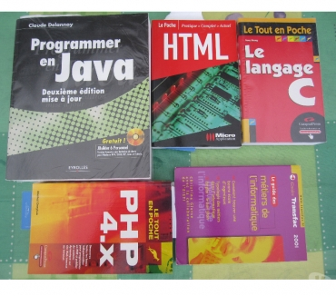 Photos Vivastreet Livres : JAVA HTML PHP4X LANGAGE C